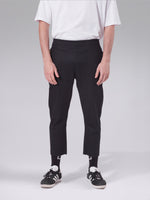 REGENERATED DENIM TROUSERS - BLACK