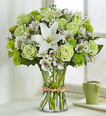 Subtle, Charming Green Bouquet