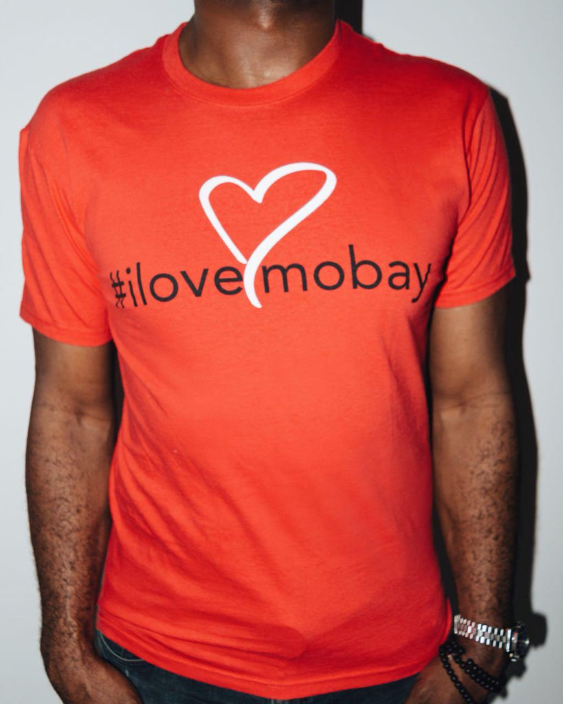 Red ilovemobay cotton t-shirt