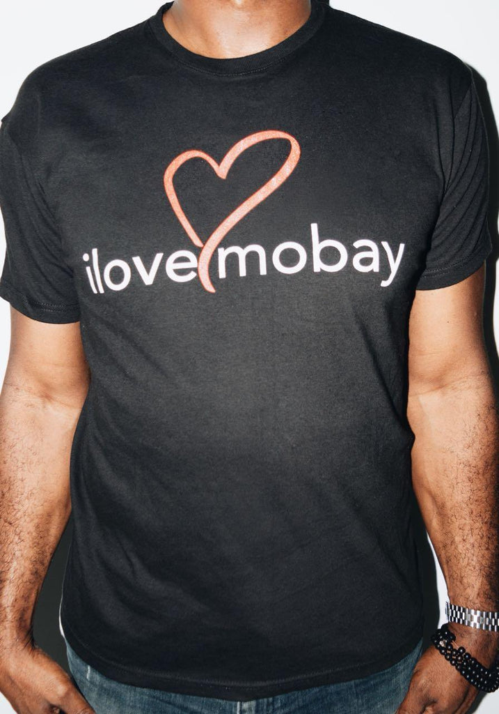 Black ilovemobay cotton t-shirt