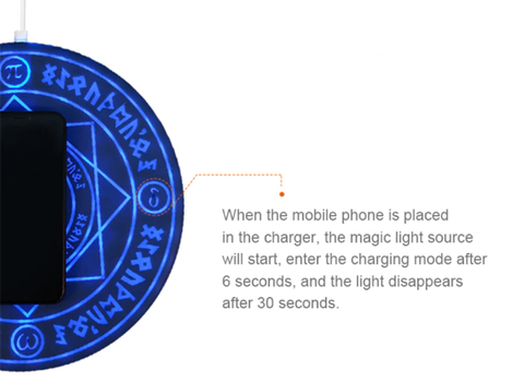 Magic circle wireless charger for otaku