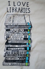 I Love Libraries T-Shirt - Root and Star