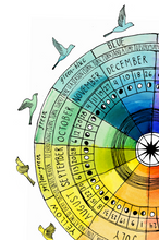 2021 Lunar Calendar Color Wheel - Root and Star