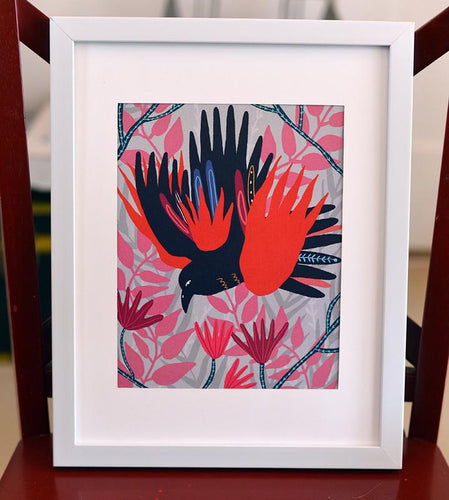Rainbow Crow Art Print - Root and Star