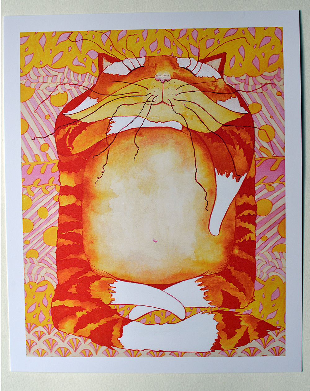 Orange cat print - Root and Star