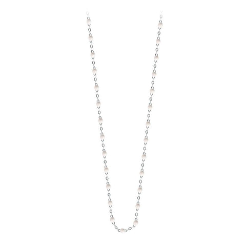 classic gigi necklace white (18k WG) 16.5""