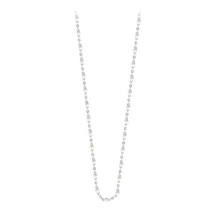classic gigi necklace white (18k WG) 17.7""