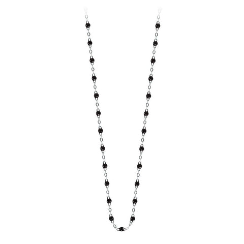 classic gigi necklace black (18k WG) 17.7""