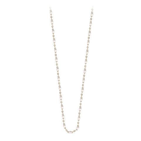 classic gigi necklace white (18k YG) 17.7""