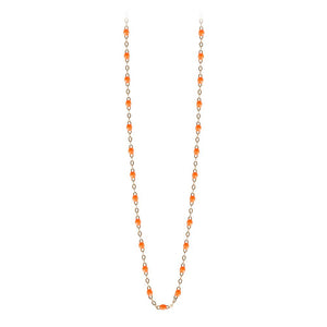 classic gigi necklace orange (18k YG) 16.5""