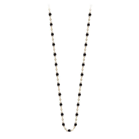 classic gigi necklace black (18k YG) 16.5""