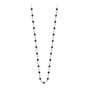 classic gigi necklace black (18k YG) 17.7""