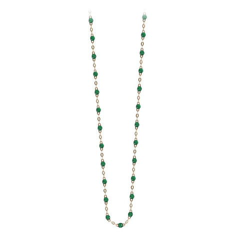 classic gigi necklace emerald (18k YG) 17.7""