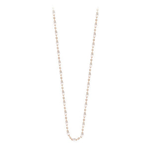 classic gigi necklace white (18k RG) 16.5""