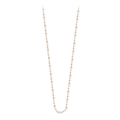 classic gigi necklace white (18k RG) 17.7""