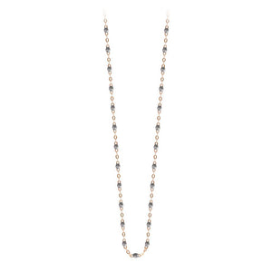 classic gigi necklace silver (18k RG) 16.5""