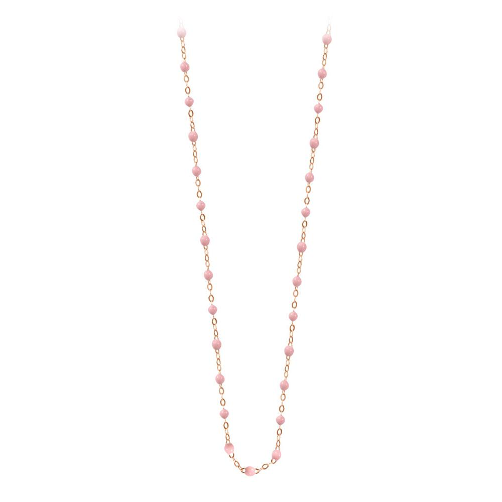 classic gigi necklace baby pink (18k RG) 16.5""