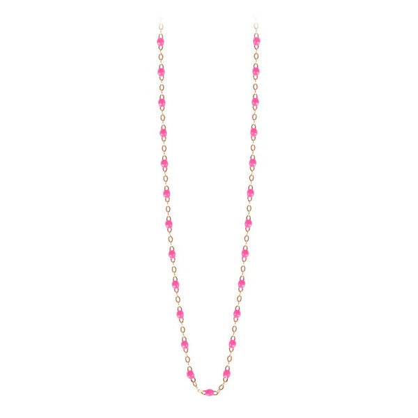 classic gigi necklace pink (18k RG) 16.5""