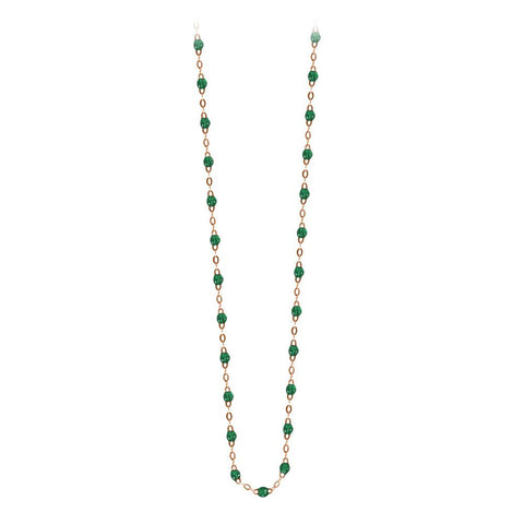 classic gigi necklace emerald (18k RG) 17.7""