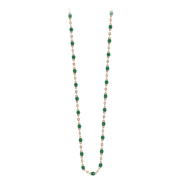 classic gigi necklace emerald (18k RG) 16.5""