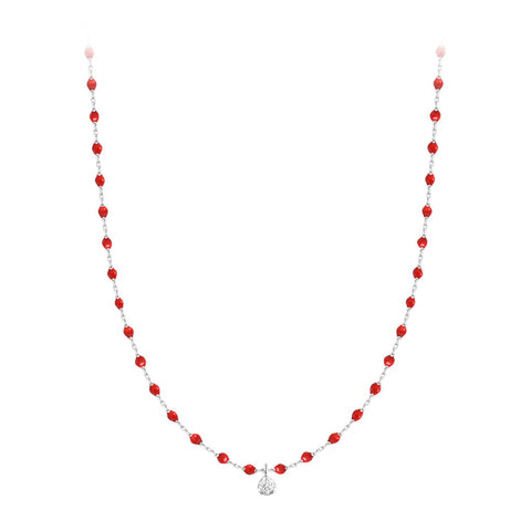 mini gigi necklace 1 diamond 0.04kt poppy (18k WG) 15.7""