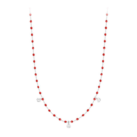 mini gigi necklace 3 diamonds 0.12kt poppy (18k WG) 16.5""