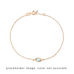 eye bracelet 2 diamonds 0.02kt turquoise (18k YG) 6.7""