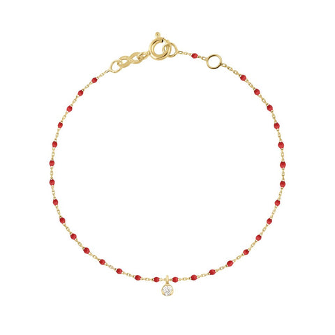 mini gigi bracelet 1 diamond 0.04kt poppy (18k YG) 6.7""