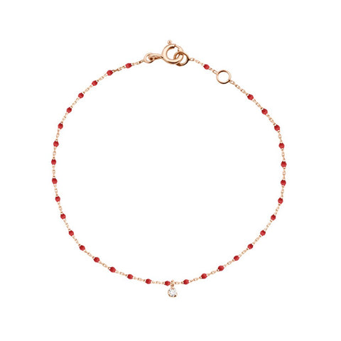 mini gigi bracelet 1 diamond 0.04kt poppy (18k RG) 6.7""