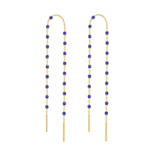 mini gigi pair of dancing earring lapis (18k YG)