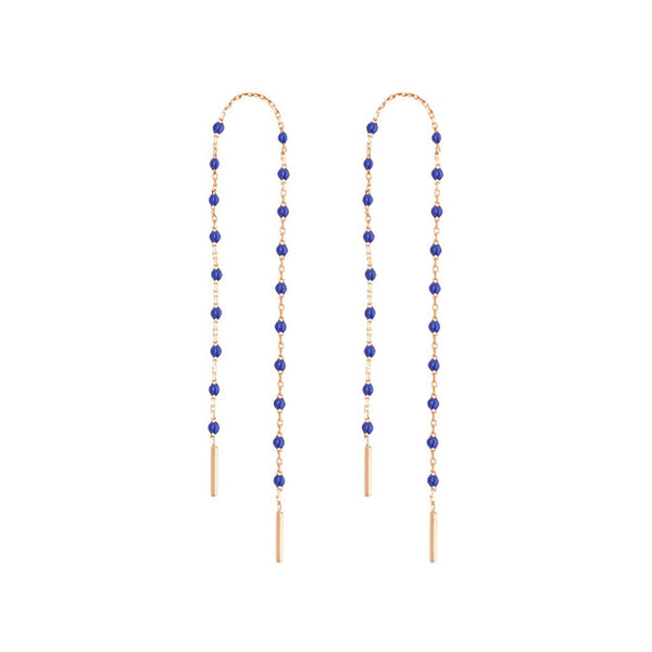 mini gigi pair of dancing earring lapis (18k RG)