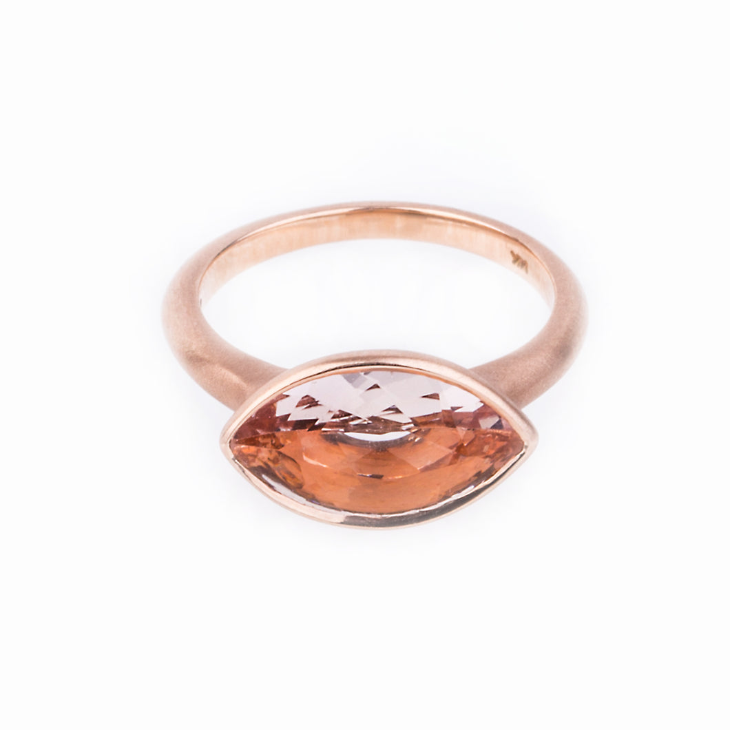 Third Eye Morganite Ring