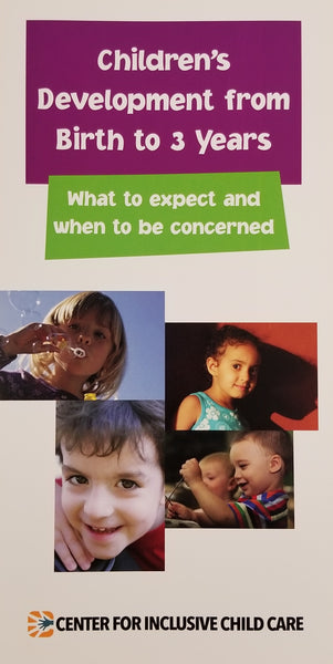 Developmental Brochure: Birth to Three Years, English (units of 20)