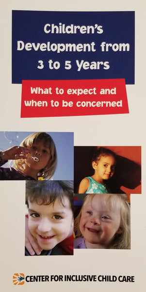 Developmental Brochure: Three to Five Years, English (units of 20)