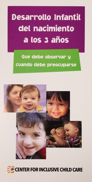 Developmental Brochure: Birth to Three Years, Spanish (units of 20)