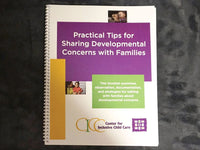 Practical Tips for Sharing Developmental Concerns with Families Booklet (eDelivery)