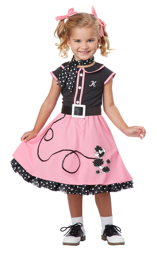 Toddler Girls 50s Poodle Cutie Costume