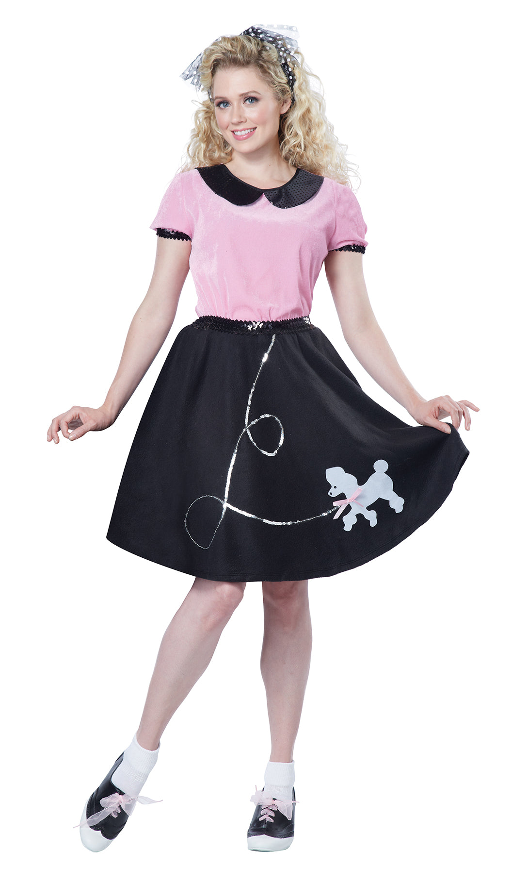 Adult 50s Hop with Poodle Skirt Costume