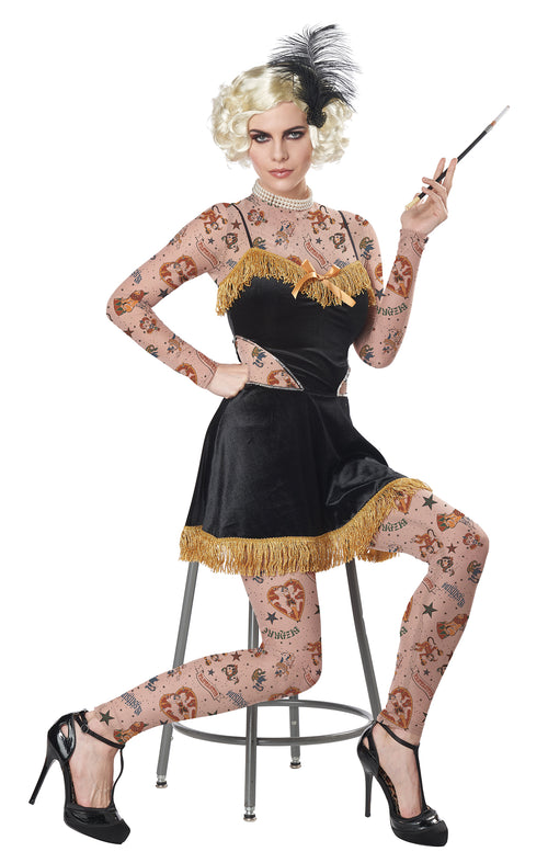 Women's The Amazing Tattooed Lady Costume
