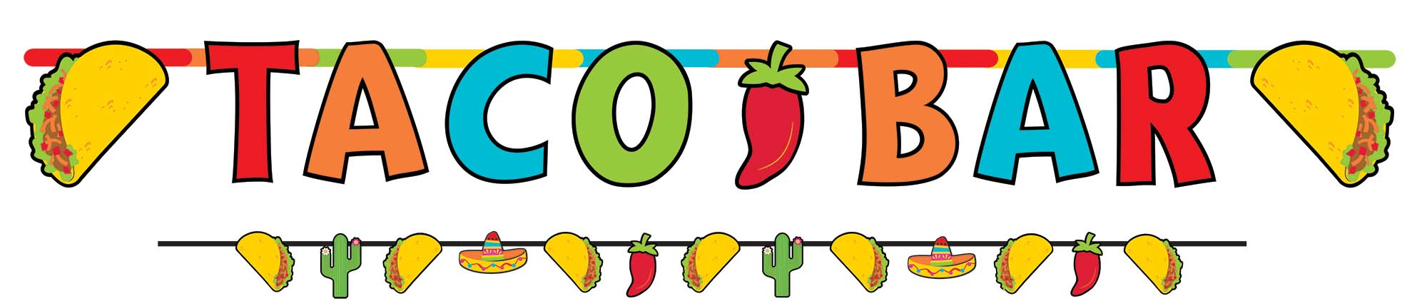 Taco Bar Letter Banner with Mini Banner