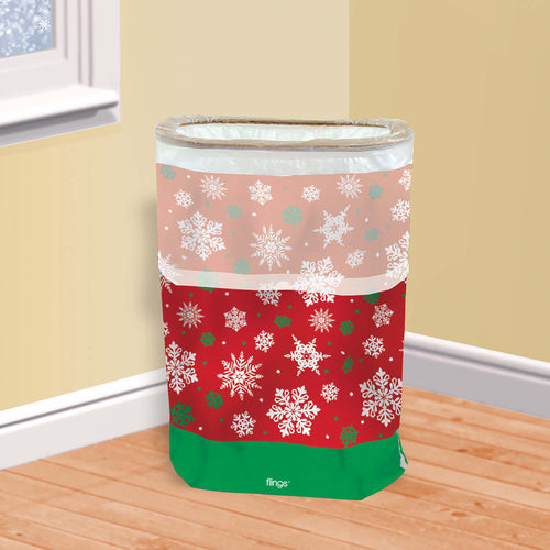Snowflake Pop-Up Trash Bin