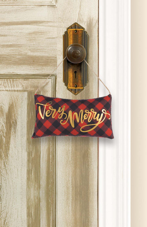 Mini Very Merry Pillow Sign