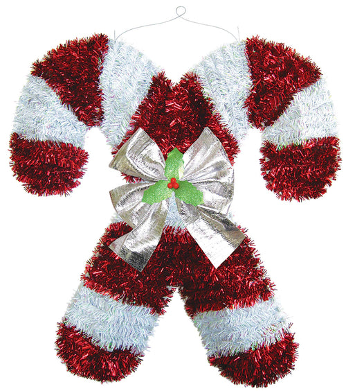 Deluxe Candy Cane Tinsel Decoration