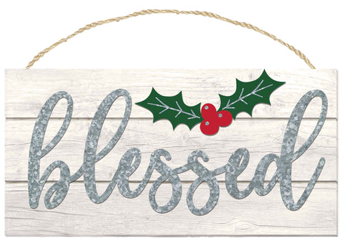 Rustic Blessed Holiday Sign