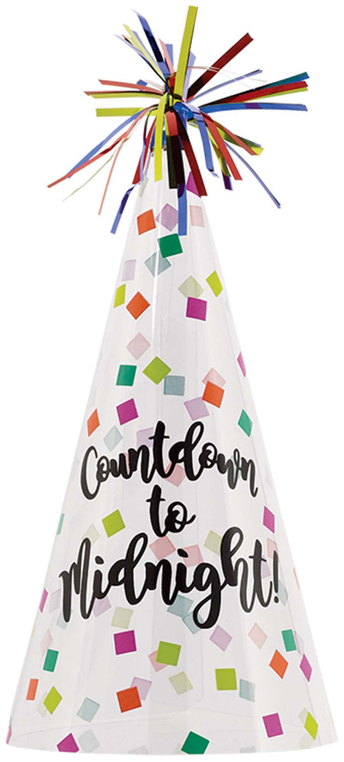 Colorful Countdown to Midnight New Year's Party Hat