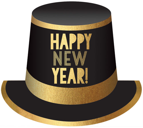 Black & Gold New Year's Eve Top Hat