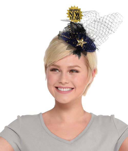 Clip-On Happy New Year Couture Hat