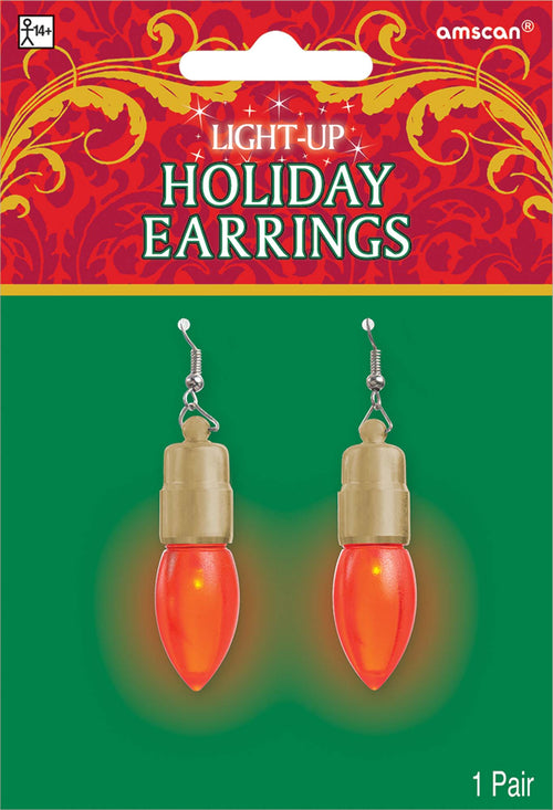 Light-Up Christmas Bulb Earrings