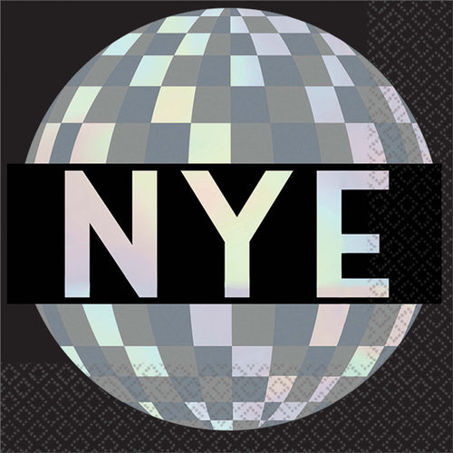 Disco Ball NYE Beverage Napkins 16ct