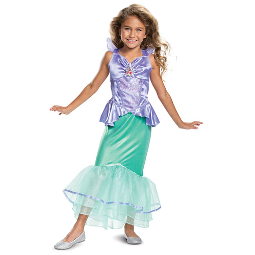 Girls Ariel Classic Costume - Little Mermaid